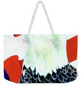 American Bald Eagle Painting #256 Weekender Tote Bag