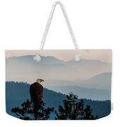 American Bald Eagle Sentinel Weekender Tote Bag