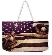 American Baseball Grunge Weekender Tote Bag