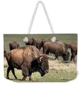 American Bison 5 Weekender Tote Bag by James Sage