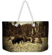 American Bison Vintage 2 Weekender Tote Bag