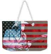 American Bluesman Stevie Ray Vaughan Weekender Tote Bag