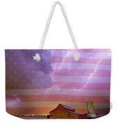 American Country Stormy Night Weekender Tote Bag