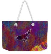 American Crow Flying Ave Fauna  Weekender Tote Bag