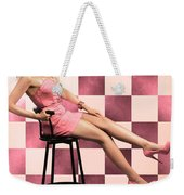American Culture Pin Up Girl Inside 60s Retro Diner Weekender Tote Bag