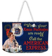 American Express Shipping Weekender Tote Bag