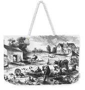American Farmyard, C1870 Weekender Tote Bag by Granger