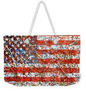 American Flag Abstract 2 With Trees  Weekender Tote Bag