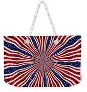 American Flag Kaleidoscope Abstract 6 Weekender Tote Bag