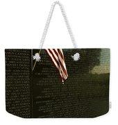 American Flag Left At The Vietnam Weekender Tote Bag