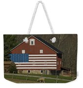 American Flag Painted On The Side Weekender Tote Bag