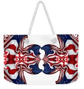 American Flag Polar Coordinate Abstract 1 Weekender Tote Bag
