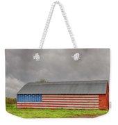 American Flag Proudly Displayed Weekender Tote Bag