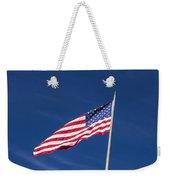 American Flag Waving In The Breeze Weekender Tote Bag