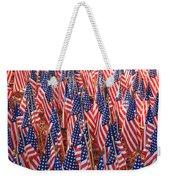 American Flags In Tampa Weekender Tote Bag