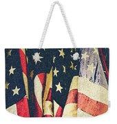 American Flags Painted Square Format Weekender Tote Bag