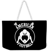American Football Player With Ball And Helmet Weekender Tote Bag