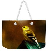 American Gold Finch In Texture Weekender Tote Bag