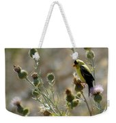 American Goldfinch Having Lunch On Bakery Hill 2 Weekender Tote Bag