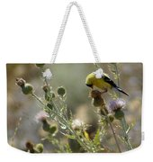 American Goldfinch Having Lunch On Bakery Hill Weekender Tote Bag