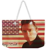 American Icon Johnny Cash Weekender Tote Bag