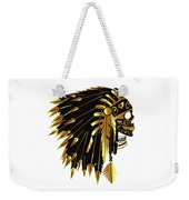 American Indian Skull Icon Background Weekender Tote Bag