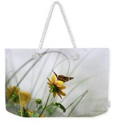 American Lady Butterfly Balancing By The Sea  Weekender Tote Bag