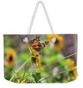 American Lady Butterfly By The Beach Weekender Tote Bag