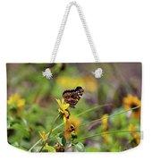American Lady Butterfly Seaside Weekender Tote Bag