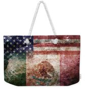 American Mexican Tattered Flag  Weekender Tote Bag
