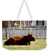 American Milking Devon In Spring Weekender Tote Bag