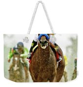 American Pharoah And Victor Espinoza Win The 2015 Preakness Stakes. Weekender Tote Bag