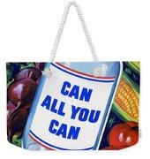 American Propaganda Poster Promoting Canned Food Weekender Tote Bag