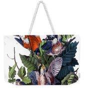 American Robin Audubon Birds Of America 1st Edition 1840 Octavo Plate 142 Weekender Tote Bag
