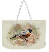 American Robin - Watercolor Art Weekender Tote Bag