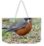 American Robin With Muddy Beak Weekender Tote Bag