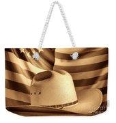 American Rodeo Cowboy Hat Weekender Tote Bag