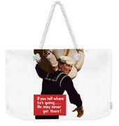 American Sailor -- Ww2 Propaganda Weekender Tote Bag