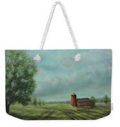 American Scene Red Barn  Weekender Tote Bag by Katalin Luczay