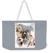 American Staffordshire Terrier Medley Weekender Tote Bag by Barbara Keith