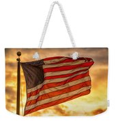 American Sunset On Fire Weekender Tote Bag