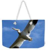 American White Pelican Wings Weekender Tote Bag