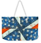 Americana Abstract Weekender Tote Bag