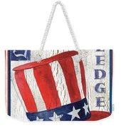 Americana Patriotic Weekender Tote Bag
