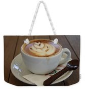 Americano Coffee With Tulip Design Weekender Tote Bag