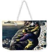 America's Fishing Fleet And Men  Weekender Tote Bag by War Is Hell Store