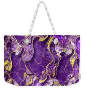 Amethyst  With Gold Marbled Texture Weekender Tote Bag