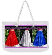 Ameynra Design. Satin Skirts - Red, White, Blue Weekender Tote Bag