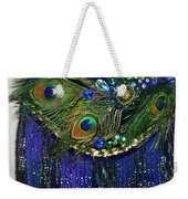 Ameynra Fashion Skirt With Peacock Feathers Weekender Tote Bag