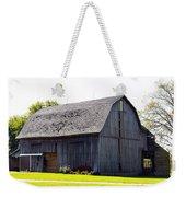 Amish Barn With Gambrel Roof And Hay Bales Indiana Usa Weekender Tote Bag